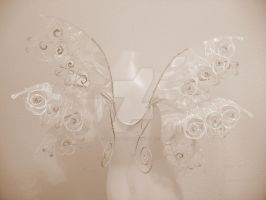 Large Rose Lace Fairy Wedding Wings by Twinkleallday