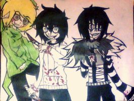 L.J, Jeff, and BEN by daisey166