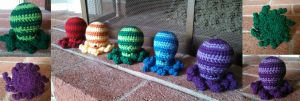A Rainbow of Octopuses (With pattern!) by racerfishy
