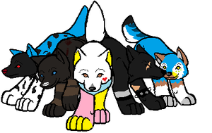 MAH AWESOME FREINDS! 1out of 2 by Wolfanimationfan