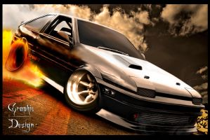 Toyota AE86 Coolart by Sedatgraphic2011