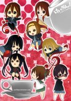 chibi K-ON by pacifique