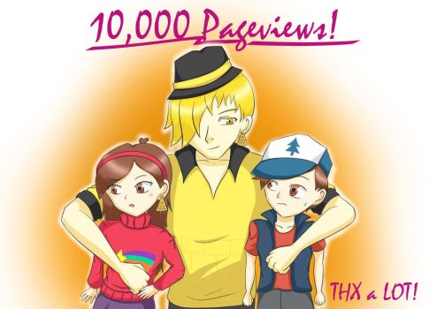 Thank you for 10,000 pageviews! by Azurablau