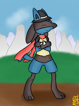 Joshue's Lucario by TheMythicalGardevoir