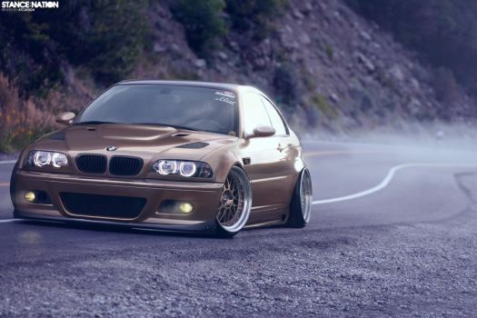 Want Aggressive? Hardparked E46. by ATC-Design