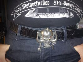 Custom Motorhead Leatherbelt by Zarganath