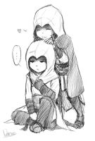 Ezio and Altair by Nerrena