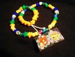 Cute Friends Kandi necklace by Lutrasaura