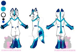 Fursuit com reference sheet by FurryFursuitMaker