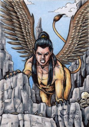Sphinx Sketch Card - Classic Mythology II