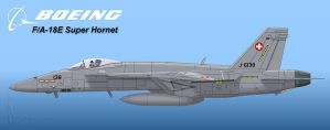 Swiss Air Force Super Hornet by Wolfman-053