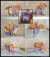 Spyro sculpture colored by TheKiromancer