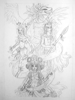 Mayan Gods Project WIP by Leah-Sama
