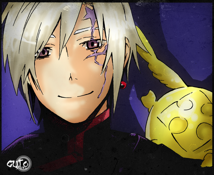 Allen Walker and Timcampy D-Gray-Man Digital Paint by guto-strife-1
