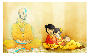 Aang and his grandchildren by Homemade-Happiness