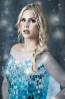 Claire Holt as Elsa (Frozen) by Cadice