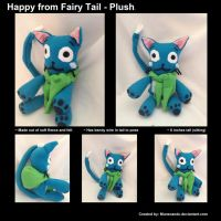 Happy Fairy Tail Plushie by MuneCandC