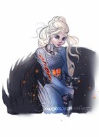 Warrior Dany sketch by Sandramalie