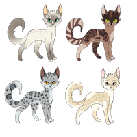 Feline Adoptables by pink-pixie-dust