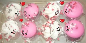 Kawaii Valentine's Day Cup Cakes In Love by KambalPinoy