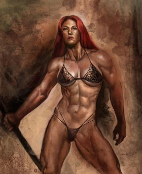 red sonja by PLUT0N