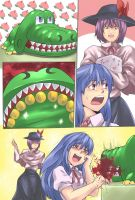 Crocodile vs Tenshi by Jiete