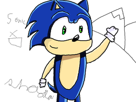 sonic quick draw by purplestripedone