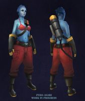 Pyro Asari texture wip by FirstKeeper