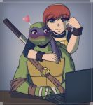 .:TMNT Donnie and April:. by Dawnrie