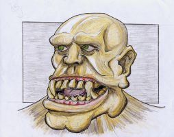 Orc with big jaw by rsandberg