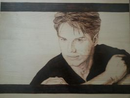 John Barrowman Pyrography by wickedtiger86
