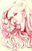 The Voice Christina Aguilera Sketch by DoodleArtStudios