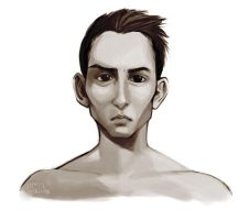 Male face sketch by CplSquee