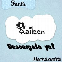 Font Kaileen by MartuLovatic
