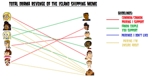 TD Revenge Of The Island Shipping Meme Done by xavs-pixels