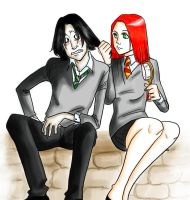 Severus x Lily color by Byakkoya