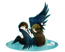 Wings series_Destiel by aleniakalain