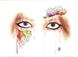 Watercolor eyes by Mikkyshor