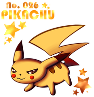 No. 026- Pikachu by Wendy-the-Creeper
