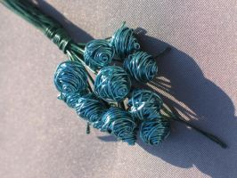 Turquoise Bouquet of Roses by reynaldomolinawire