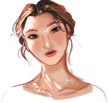 Face Study by KatharineArt
