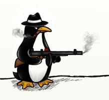 Mobster Penguin by AsgardValkyrie