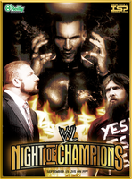 WWE - NIGHT OF CHAMPIONS poster by TheIronSkull