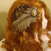 Gypsy Feather Cameo Fascinator by SteamSociety