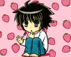 L chibi form from Death Note by PandaPoW