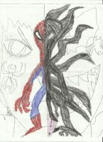 Peter And Symbiote by Mark-Riku