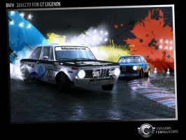 BMW 2002tii theme painting by RKGrafixx