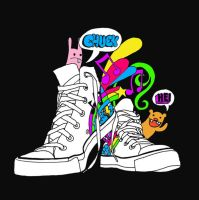 shoes t-shirt design by michexist