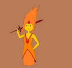 Adventure Time - Flame Princess by kbinitiald