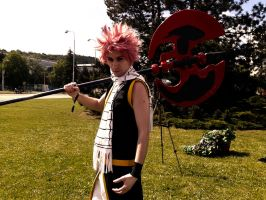 Natsu with Camael so OP by Mezushi-Cosplay